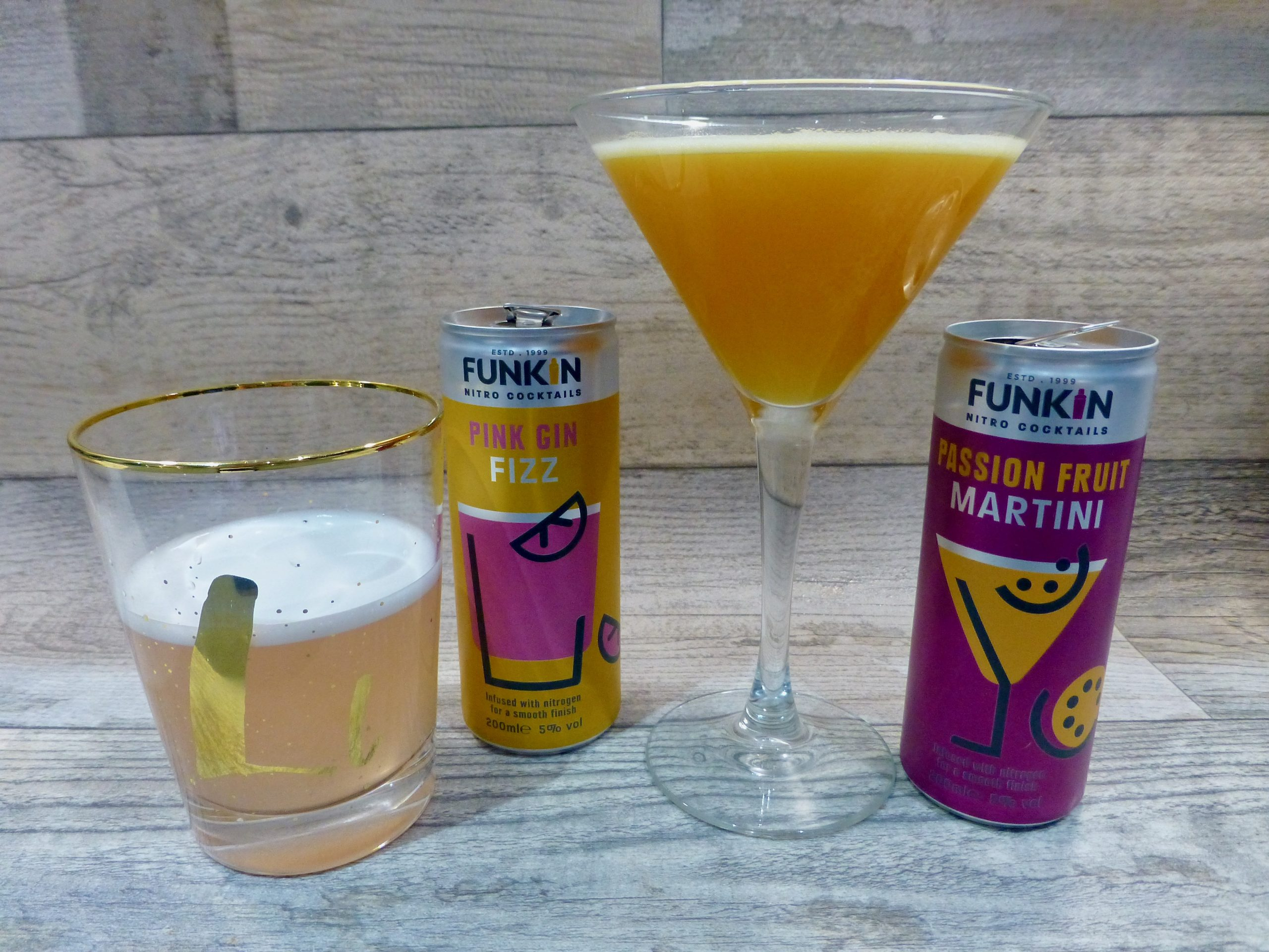 Funkin Cocktails Nitro Pink Gin and Passion Fruit Martini