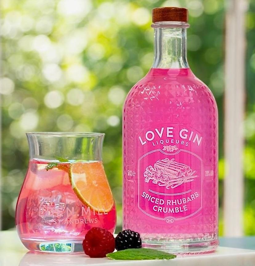 Eden Mill Love Gin Liqueur Spice Rhubarb Crumble