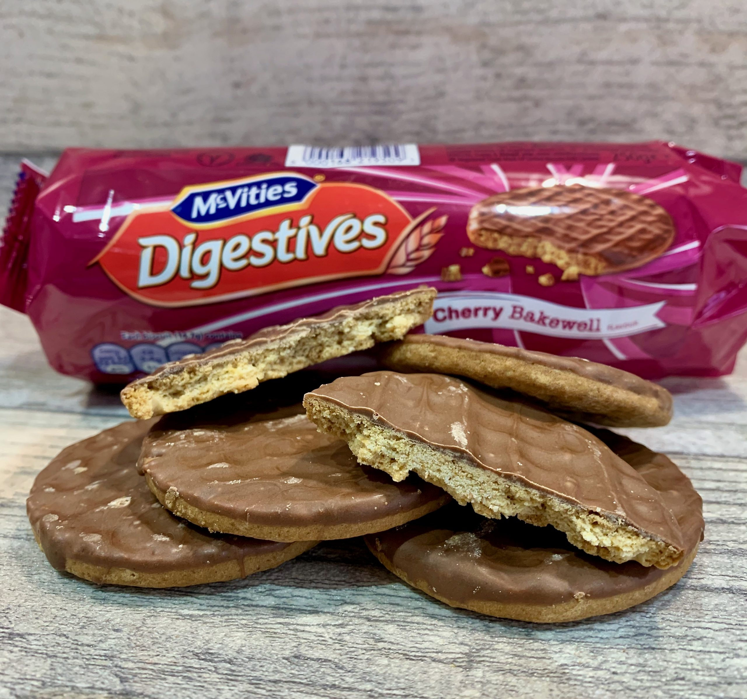 McVities Cherry Bakewell Digestives Biscuits