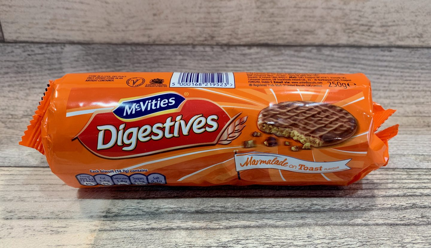 McVities Marmalade on Toast Digestives