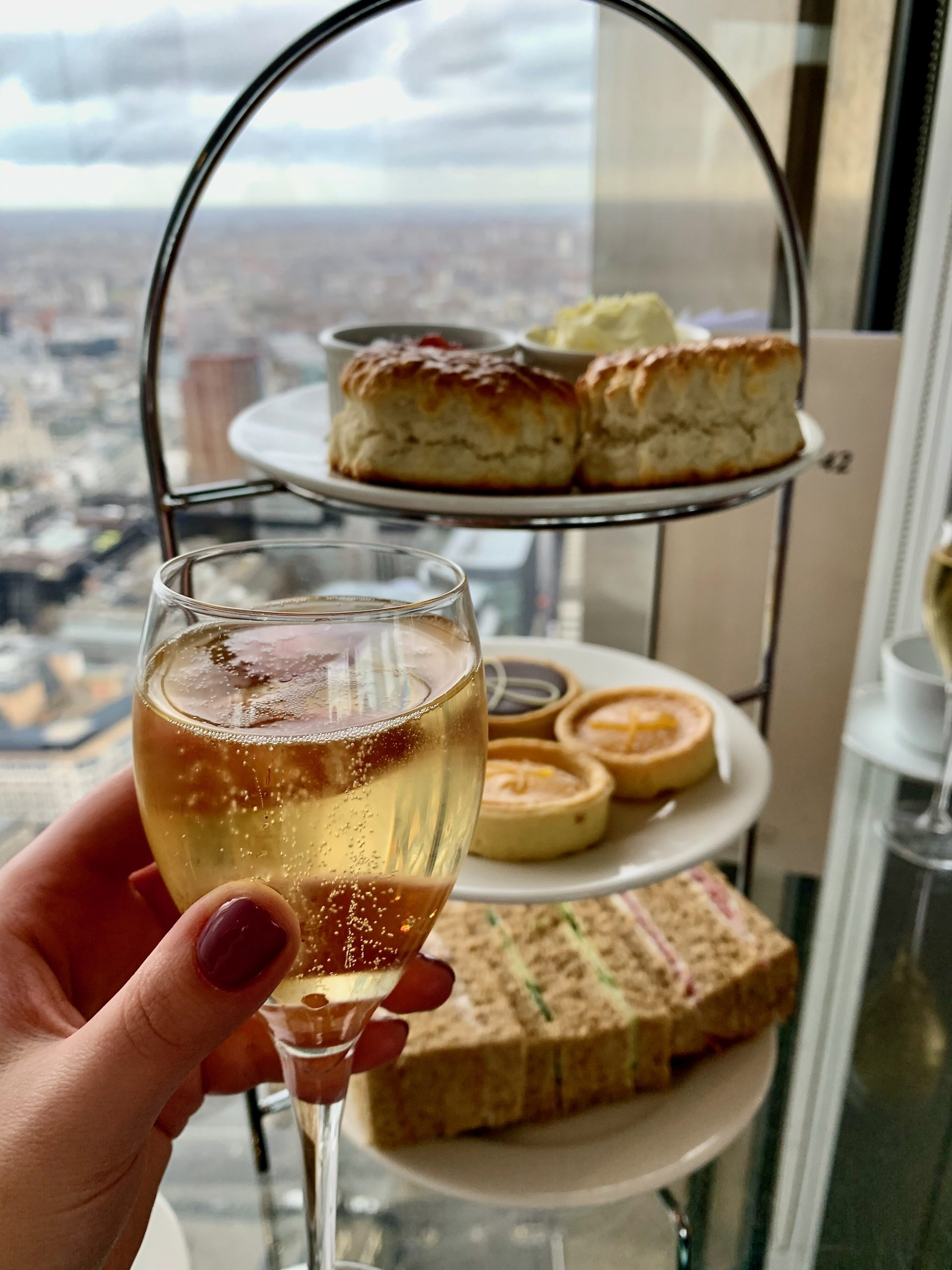 Champagne at Vertigo 42 London