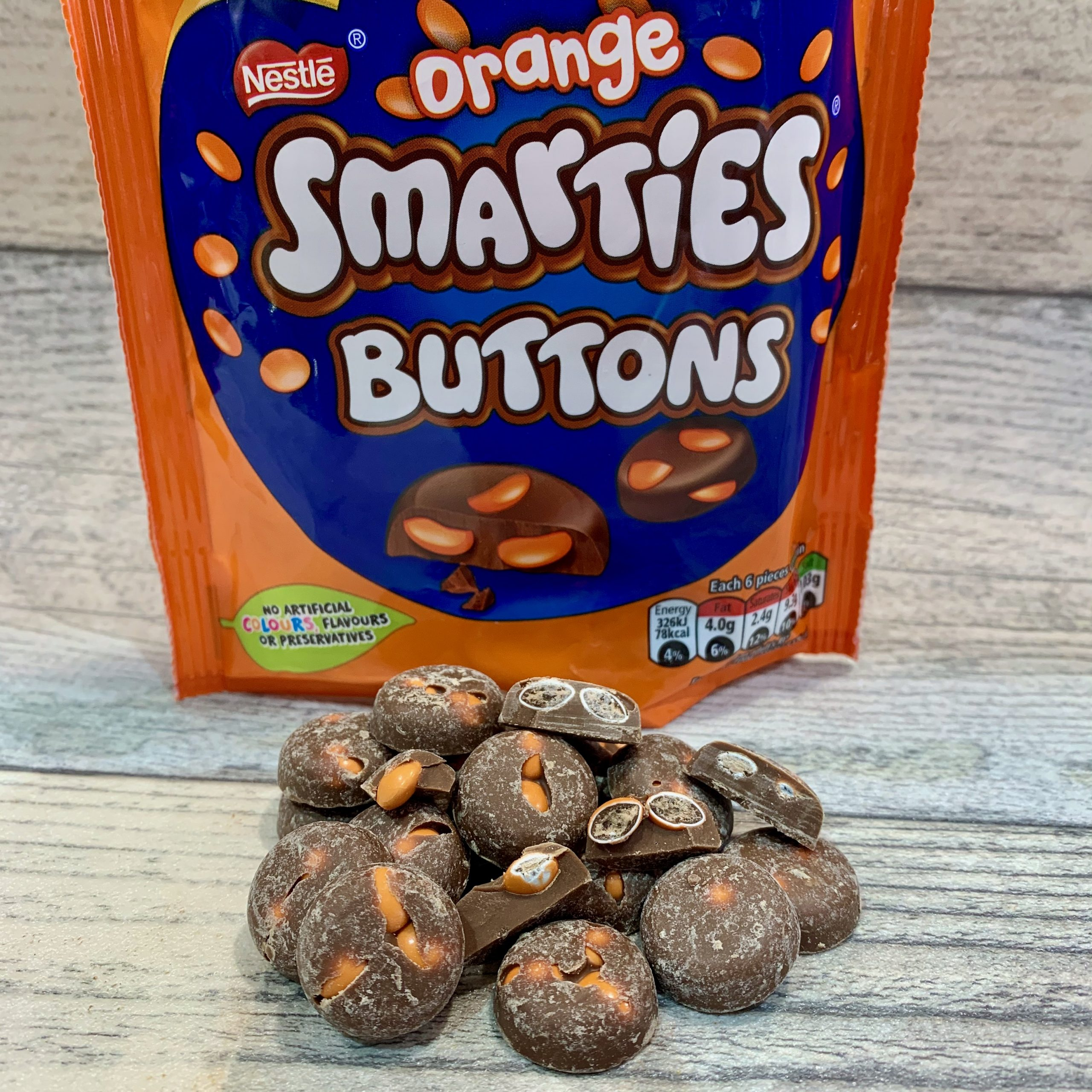 Nestle Orange Smarties Buttons Review
