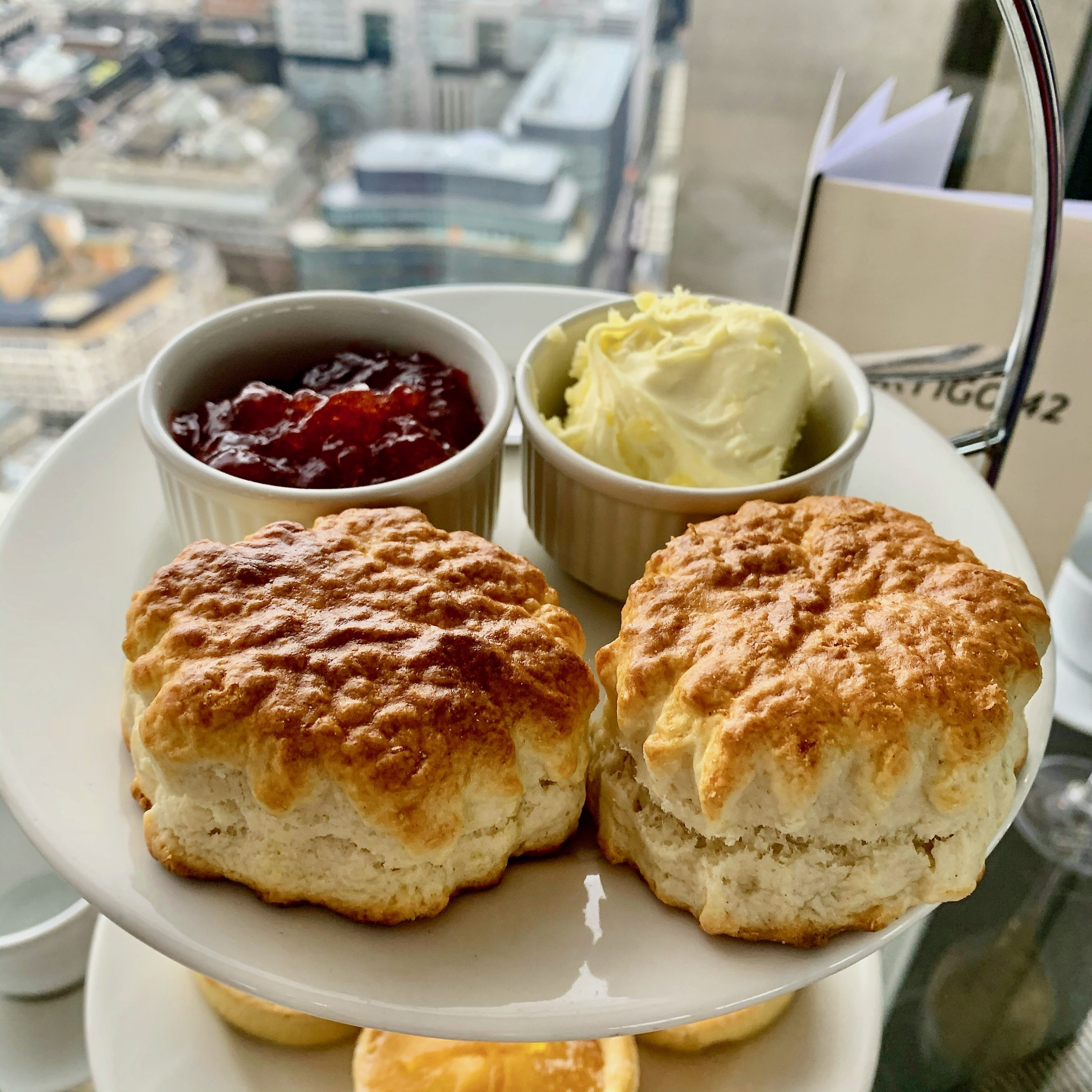 Vertigo 42 Afternoon Tea Scones