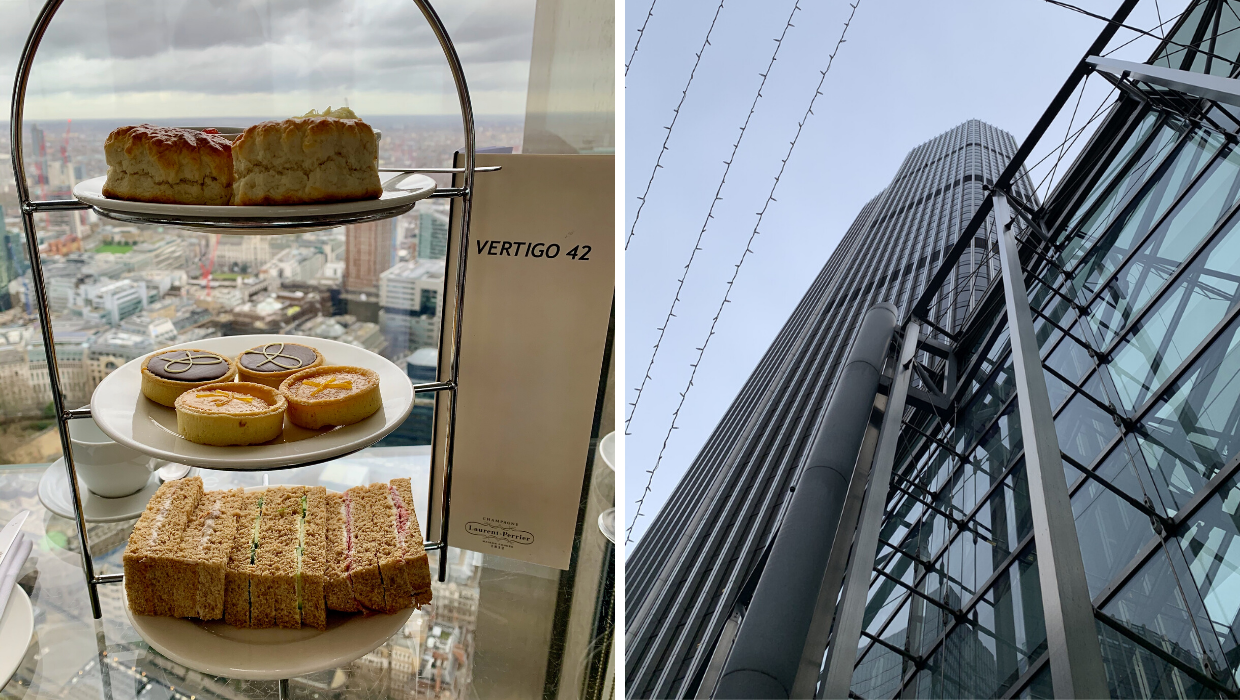 Vertigo 42 London Afternoon Tea Review