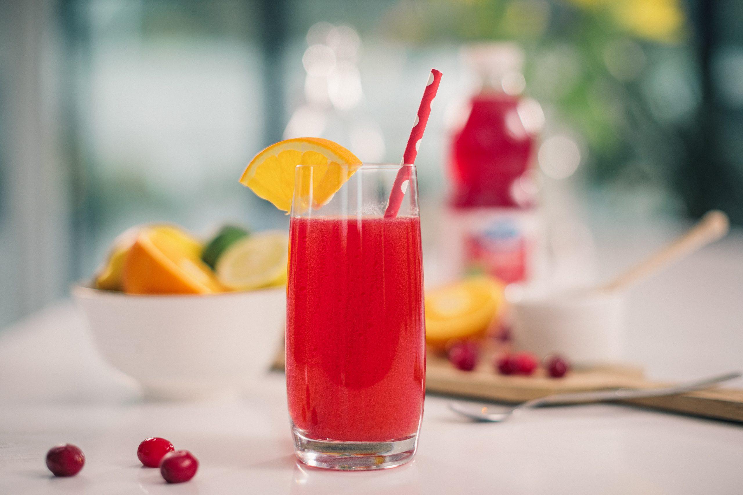 Cranberry, lemon and orange with honey