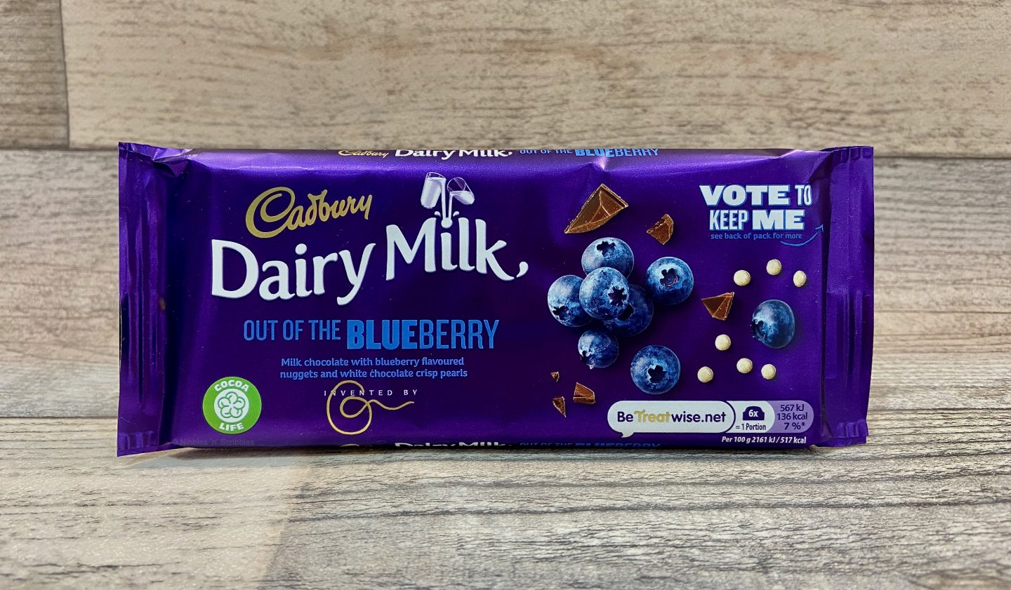 Cadbury Dairy Milk Out of the Blueberry