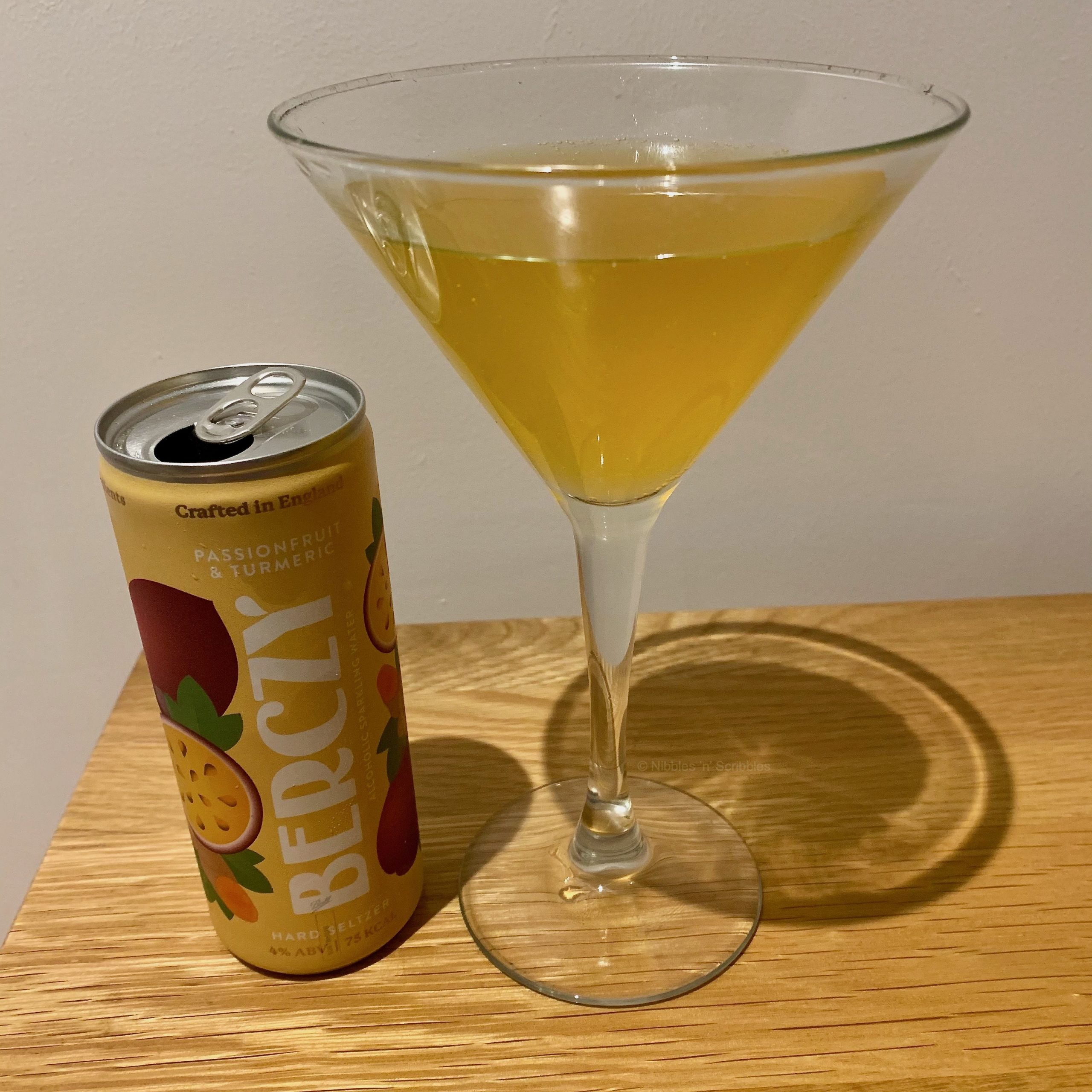 Passionfruit and Tumeric Berczy Alcoholic Sparkling Water
