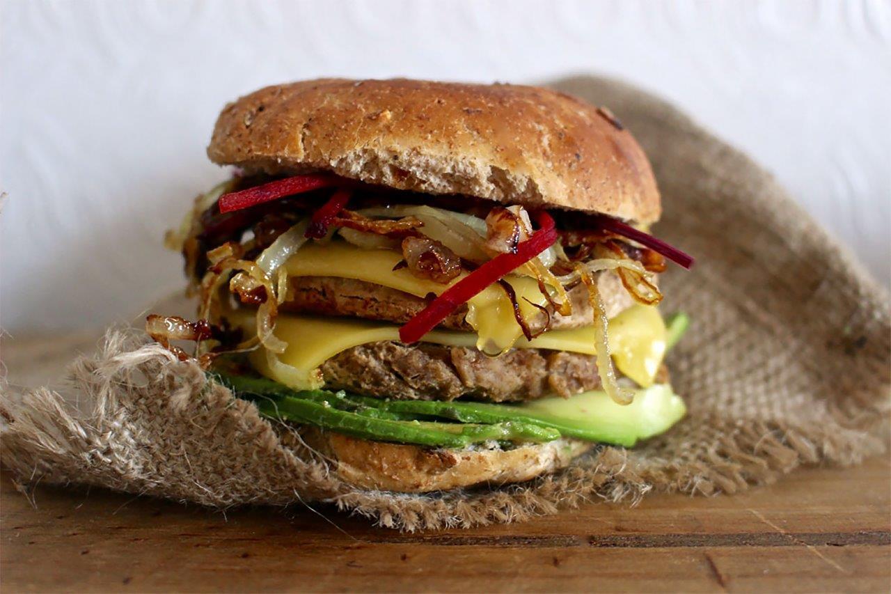 Vegan Sheese Protein Chorizo Burgers