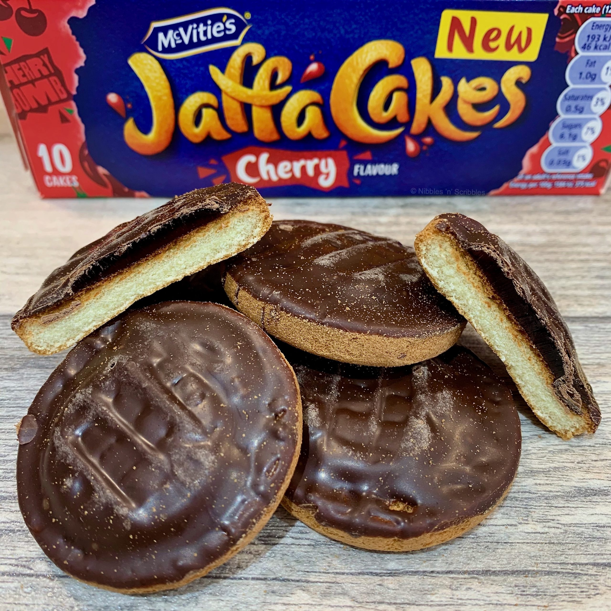 McVitie's Cherry Jaffa Cakes Nibbles n Scribbles
